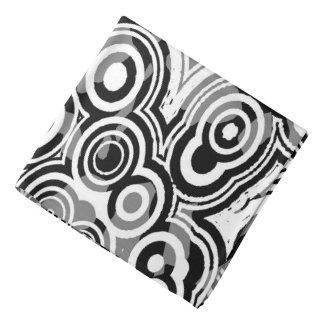 Bandana Círculos preto e branco da arte da abstracção