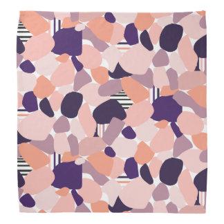 Bandana com modelo abstracto em lilás, alaranjado