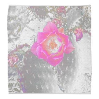 Bandana cor-de-rosa da flor do cacto de Ghosted