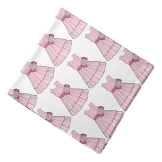 Bandana cor-de-rosa nupcial do vestido da