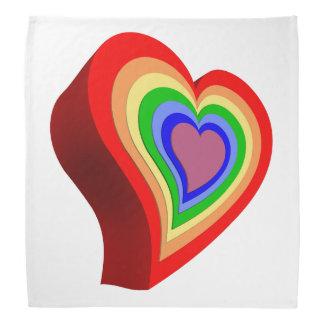 Bandana Coração colorido alegre