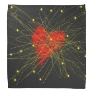 Bandana Coração vermelho com design da arte abstracta das