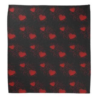 Bandana Corações vermelhos com Sparkles e pontos
