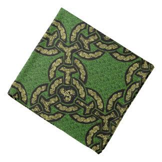 Bandana Corrente celta do dragão no verde