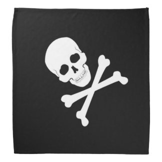 Bandana Crânio de bandeira de pirata e Crossbones Roger