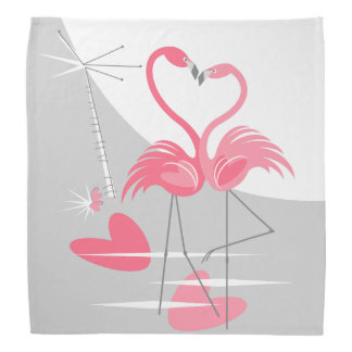 Bandana da lua do amor do flamingo grande