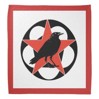 Bandana de acampamento do corvo vermelho da