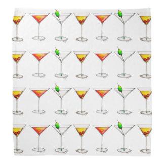 Bandana de Martini Cosmo Manhattan da bebida dos