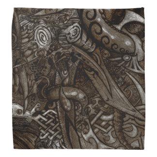 Bandana Desenho detalhado intrincado da mão das lâminas