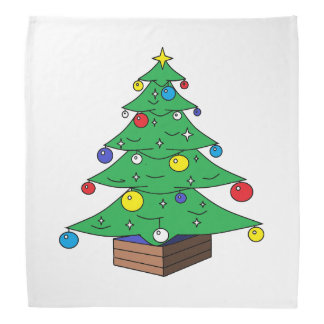 Bandana Desenhos animados decorados da árvore de Natal