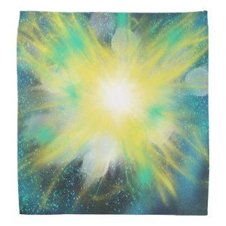 Bandana Design amarelo da pintura da arte da estrela do