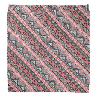 Bandana Design asteca vermelho cinzento bonito do teste
