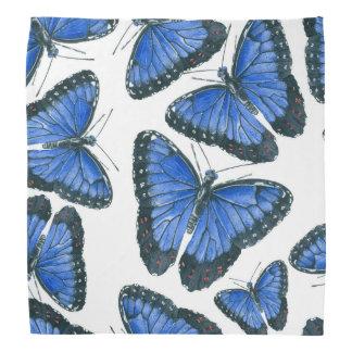 Bandana Design azul do teste padrão de borboleta do morpho