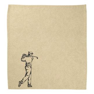 Bandana Design dos esportes do golfe no olhar de couro