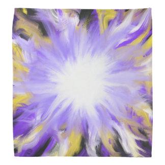 Bandana Design roxo e amarelo da arte abstracta da estrela