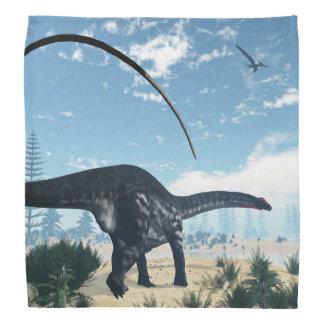 Bandana Dinossauro do Apatosaurus no deserto - 3D rendem