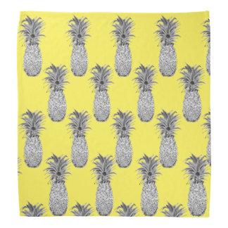 Bandana do amarelo do impressão do abacaxi