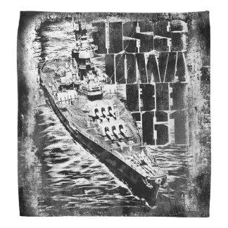 Bandana do Bandana de Iowa da navio de guerra