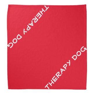 Bandana do cão da terapia