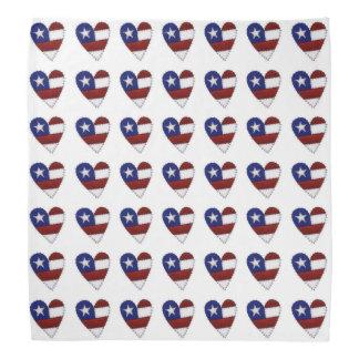Bandana do coração da bandeira dos EUA