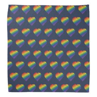 Bandana do coração do scribble do arco-íris