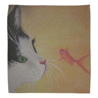 bandana do gato e dos peixes