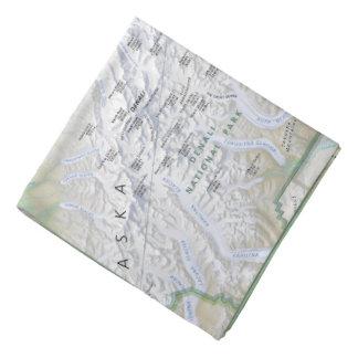 Bandana do mapa de Denali (Alaska)