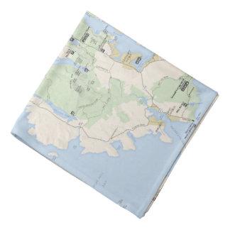 Bandana do mapa do Acadia