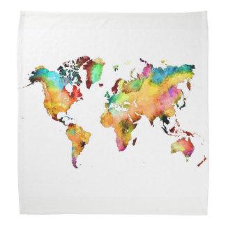 bandana do mapa do mundo