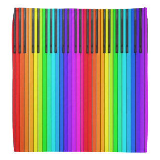Bandana do teclado de piano do arco-íris