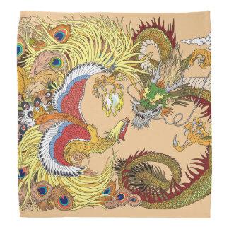 Bandana dragão e phoenix chineses