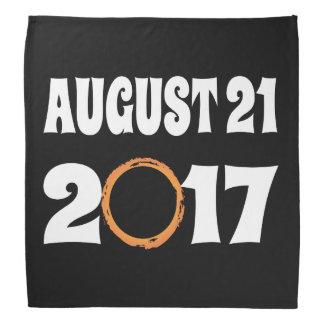 Bandana Eclipse solar 21 de agosto de 2017 total