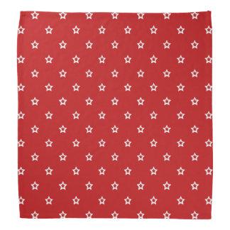 Bandana Estrelas brancas no vermelho brilhante