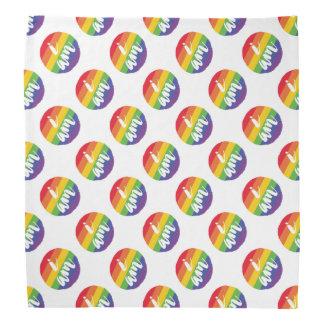 Bandana Etiqueta da bandeira do orgulho gay do arco-íris