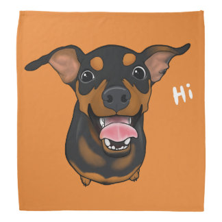 Bandana feliz do Pinscher diminuto do cão do Pin