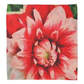 Bandana Flor vermelha grande