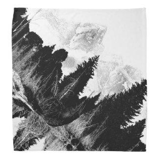 Bandana Floresta preto e branco