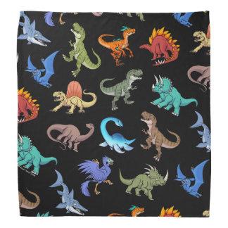 Bandana Fontes de escola do arco-íris II dos dinossauros