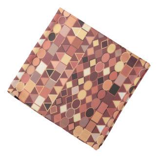Bandana Geométrico tribal, castanho chocolate modernos e
