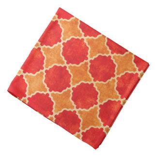 Bandana Geométrico vermelho da queda de Flutterby