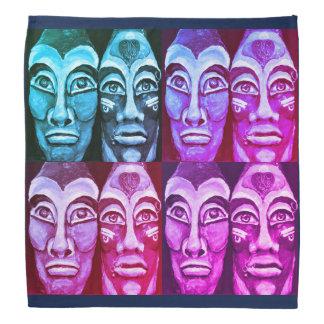 Bandana Guerreiros maias - design pintado surrealismo