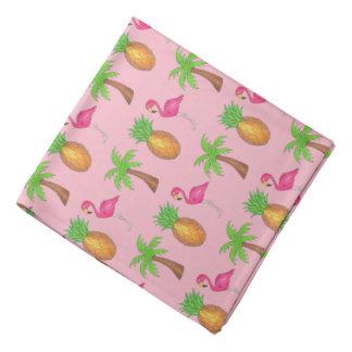 Bandana Ilha tropical da palmeira cor-de-rosa do abacaxi