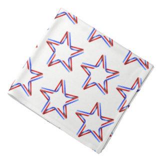 Bandana Impressão Bandana-Patriótico das estrelas