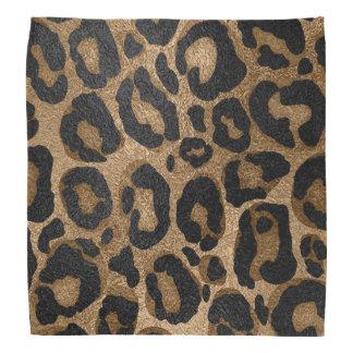 Bandana Impressão de Jaguar do leopardo do brilho do ouro