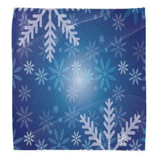 Bandana Inverno azul com flocos de neve