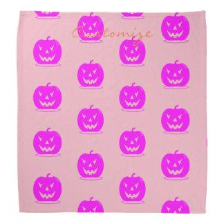 Bandana Jack cor-de-rosa o Dia das Bruxas o'lantern