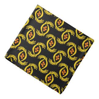 Bandana Jimette Desenho amarelo e cor de laranja