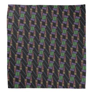 Bandana Jimette Desenho cor de laranja lilás verde