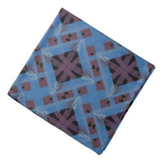 Bandana Jimette Desenho de castanha e azul sobre