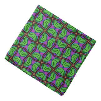 Bandana Jimette Desenho verde cor de laranja e